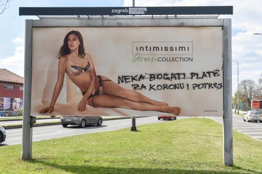Grafit na plakatu