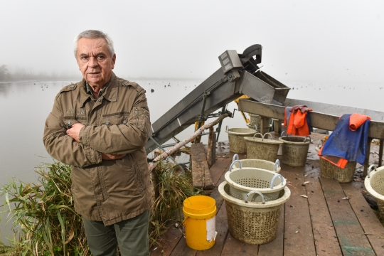 Ivan Prepolec, vlasnik ribogojilišta u Crnoj Mlaki